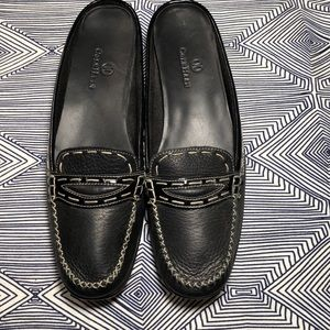 Cole Haan preppy backless loafer mule in black